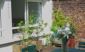 Terrasse - Vue d'une des fenêtres de la chambre